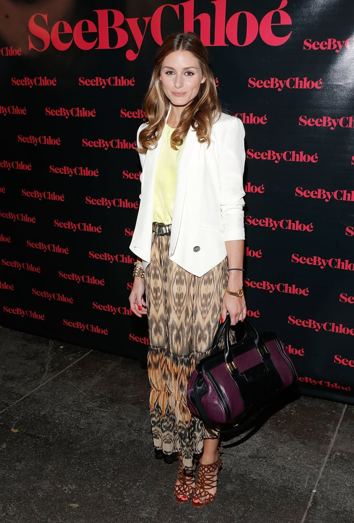 Olivia Palermo showed off another eclectic-chic style formula for See by Chloé's fragrance celebration.