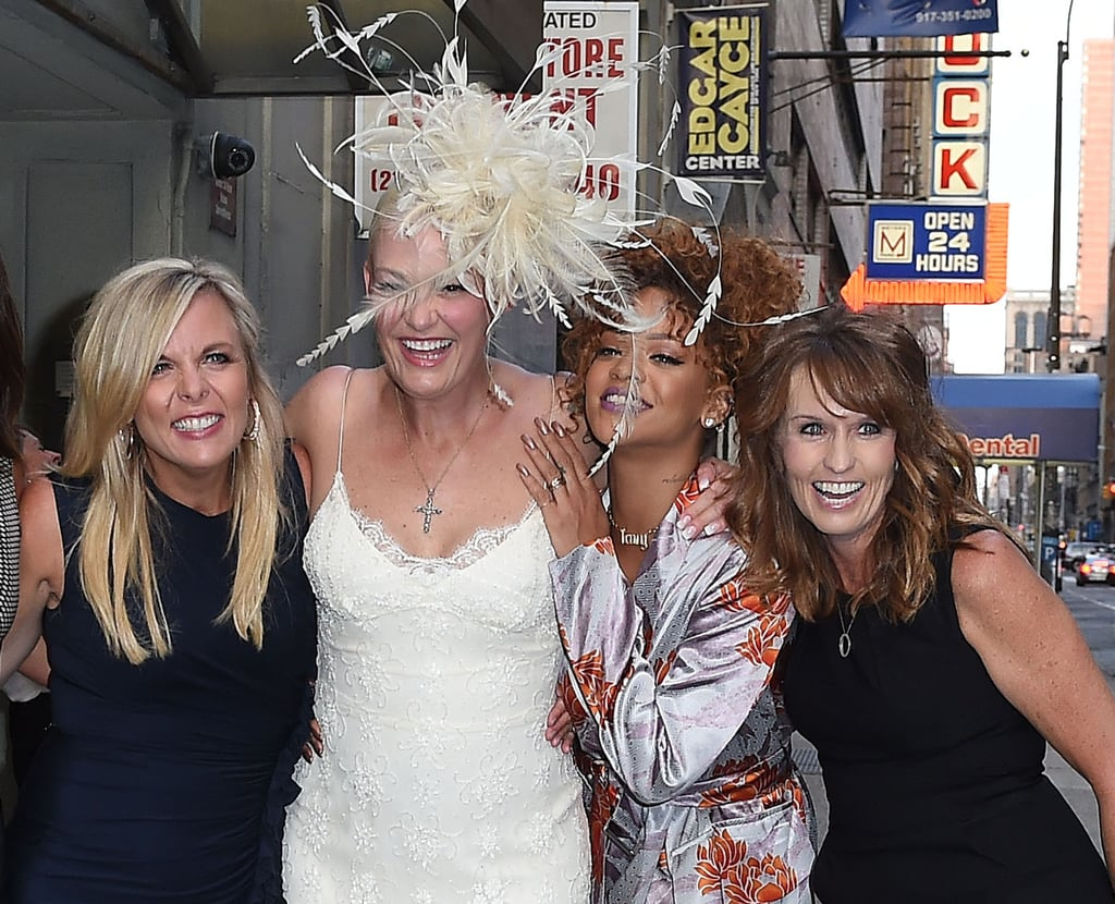 Rihanna helped her stylist, Sonya Benson, celebrate her nuptials in NYC in August 2015.
