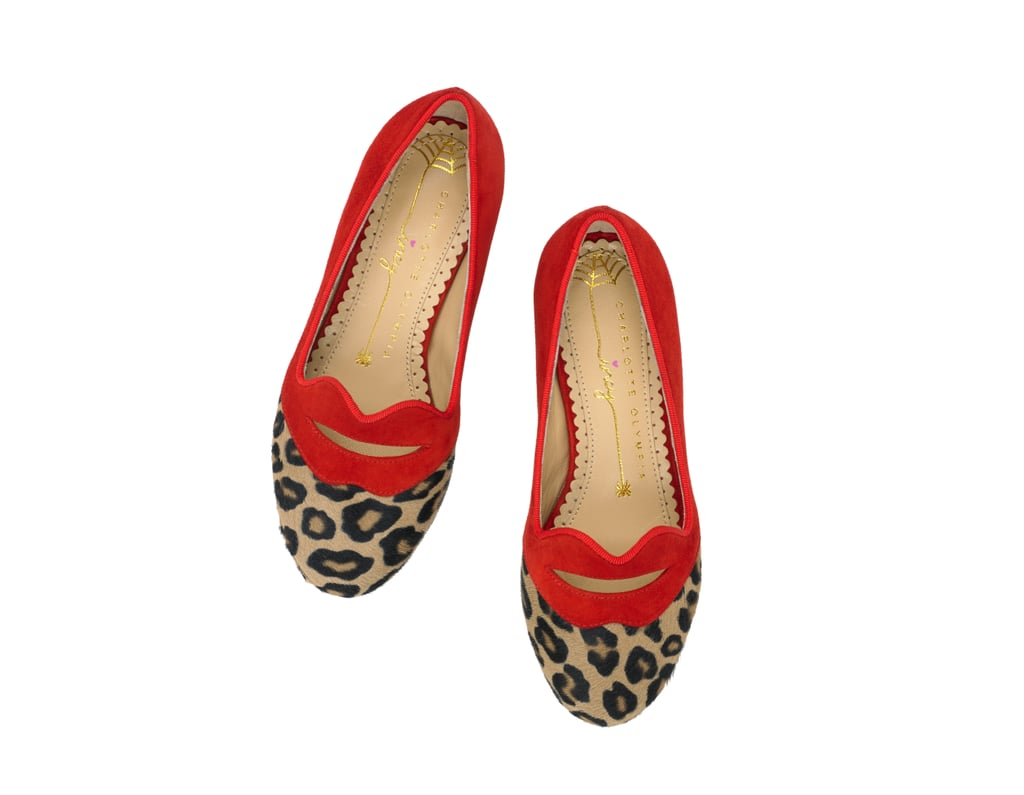 Charlotte Olympia Bisoux red leopard flats ($325).