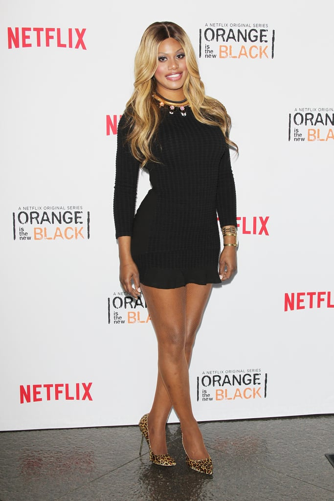 At the Orange Is the New Black screening in August 2014, she bared her stems in a black minidress and gave the whole look a lift with a pair of leopard-print pumps.