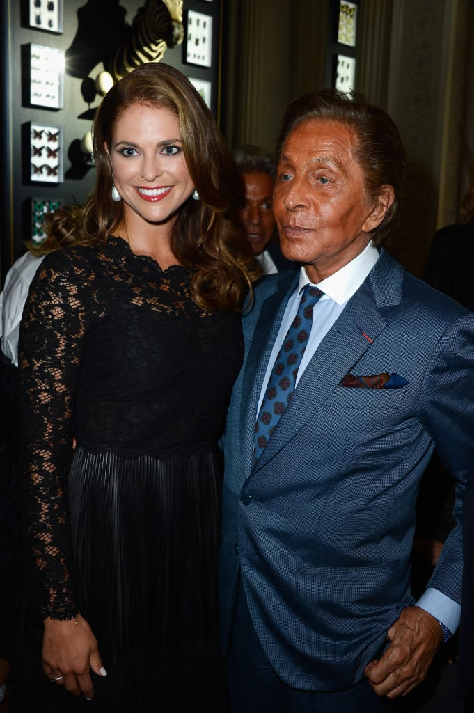 Princess Madeleine of Sweden and Valentino Garavini linked up at the Valentino show on Wednesday.