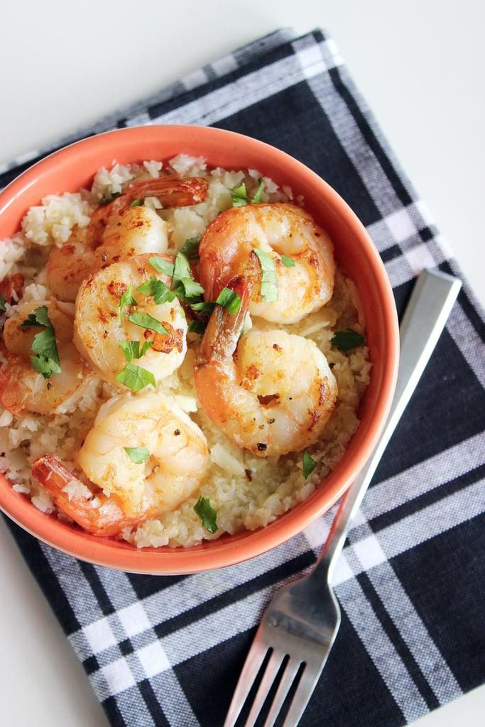 Lunch and Dinner: Garlic Lemon Shrimp and Cauliflower Grits