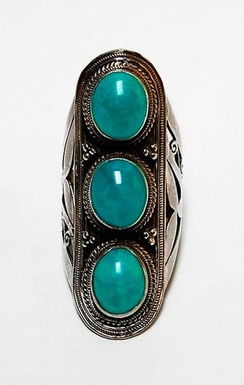 Soixante Neuf 3 Stone Long Ring ($260)