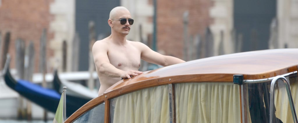 Yes, That Is a Bald and Shirtless James Franco Riding a Boat