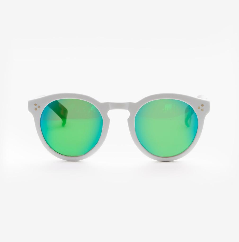 Illesteva Leonard II White Sunglasses