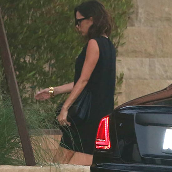Victoria Beckham Black Dress in Malibu July 2016