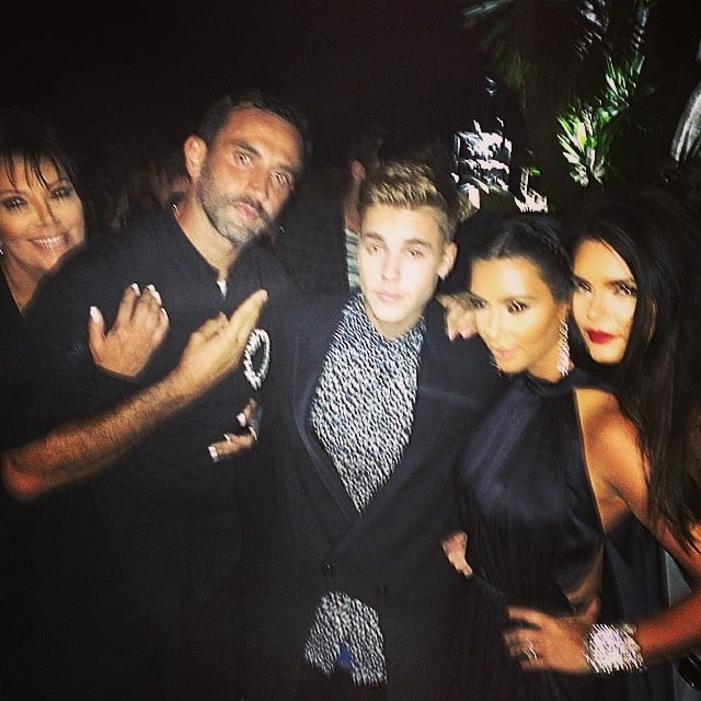 The pals leaned in for a group shot.  Source: Instagram user justinbieber