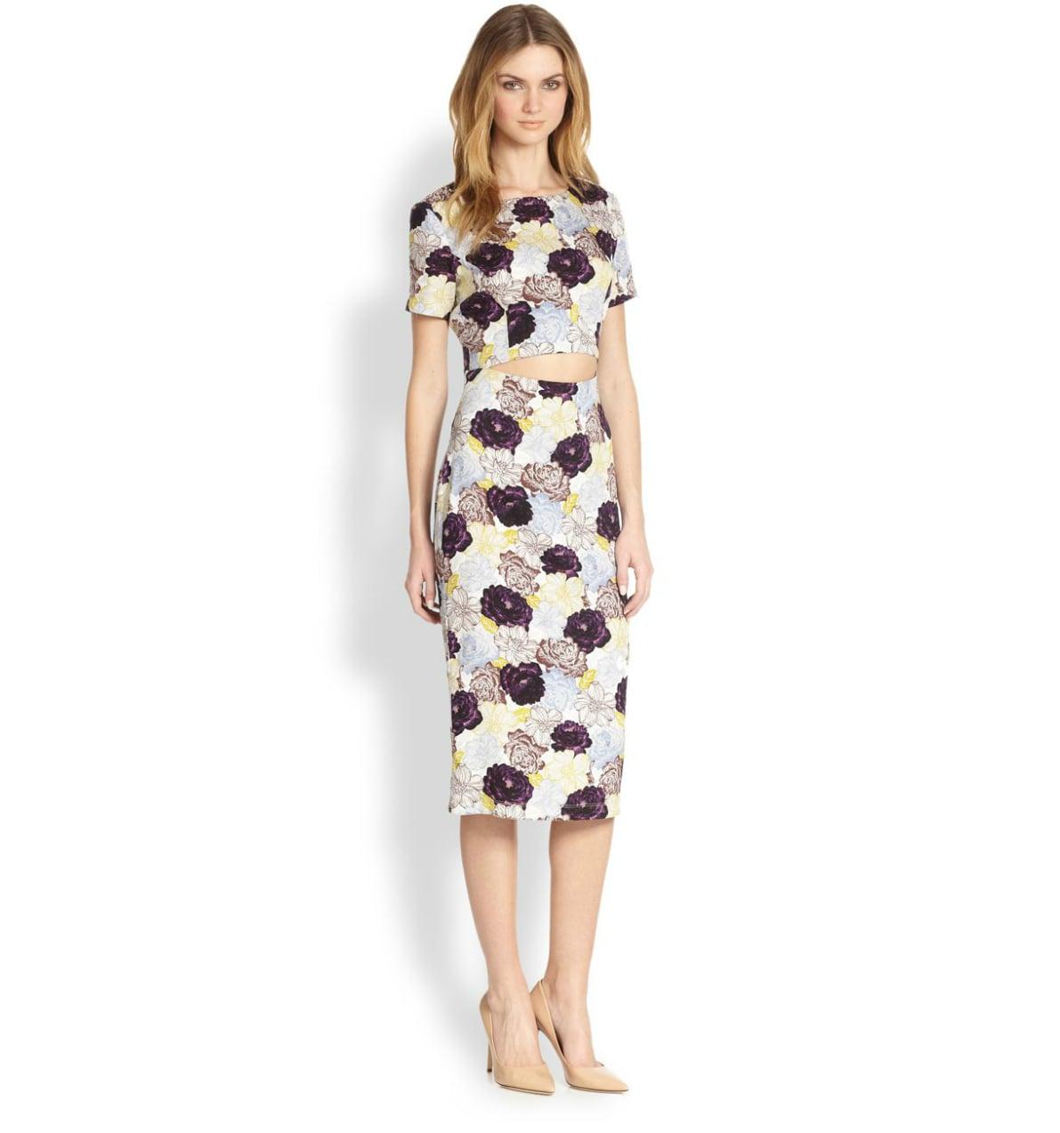 Suno Floral Cutout Dress