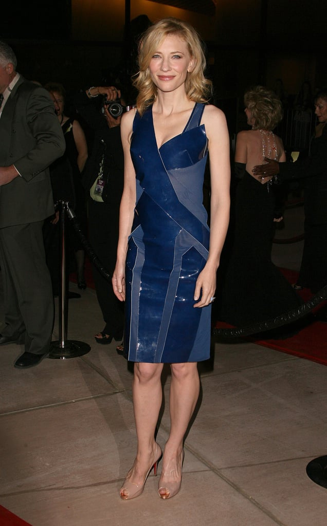 We love that Cate Blanchett took a bit of a fashion risk with this edgier LBD (that's little blue dress) at the 2007 Palm Springs International Film Festival Awards. It was a bit more structural, a bit more futuristic, and a bit more unexpected.