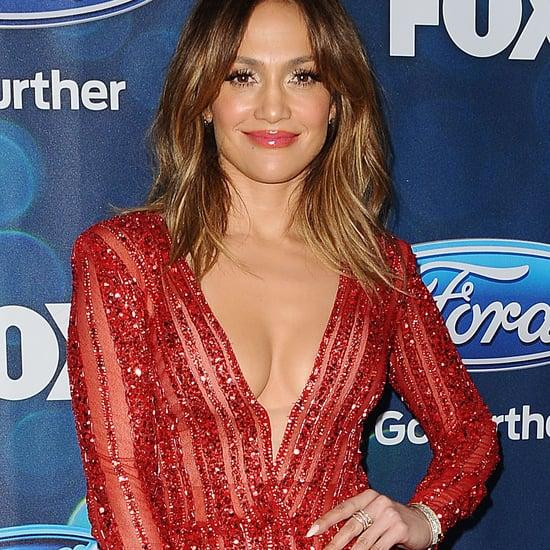Jennifer Lopez in Red Zuhair Murad Jumpsuit