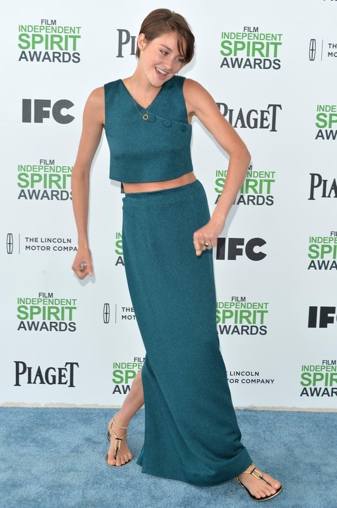 Shailene Woodley at the Spirit Awards