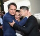 On Thursday, Jason Clarke, Keri Russell, and Andy Serkis laughed at the Dawn of the Planet of the Apes premiere in San Francisco.