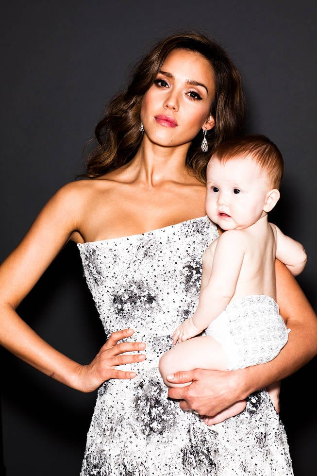 Jessica Alba posed with Haven Garner, 9 months, to celebrate being named one of the most creative people in business by Fast Company. Photo courtesy of: Fast Company