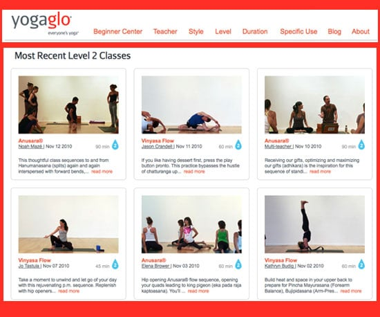 At Home Yoga Workouts With YogaGlo