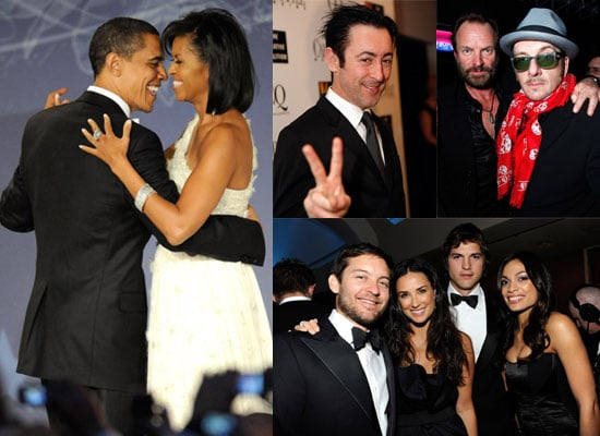 Photos of President Barack Obama and Michelle Obama at Inauguration Balls