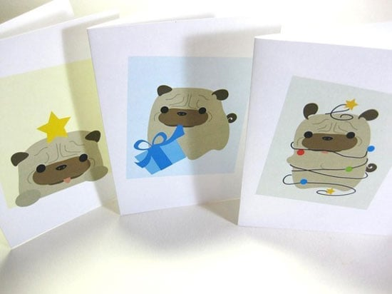 Ball-Z Greeting Cards ($14 for 10) feature a trouble-making pug sure to melt your smushy-loving heart.