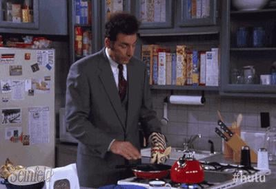 For some reason, 5A seemed to always have a bright red kettle on the gas range, which Kramer, of course, used more than anyone.