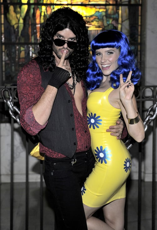 Austin Nichols and Sophia Bush as Russell Brand and Katy Perry in 2010