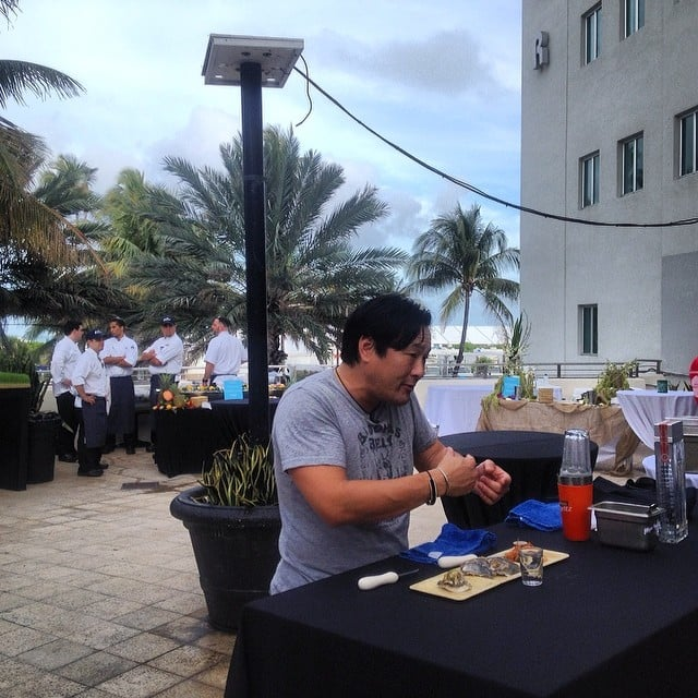Ming Tsai Prepped Oyster Shooters