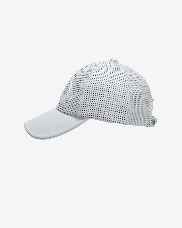 Intermix Perforated Leather Baseball Cap