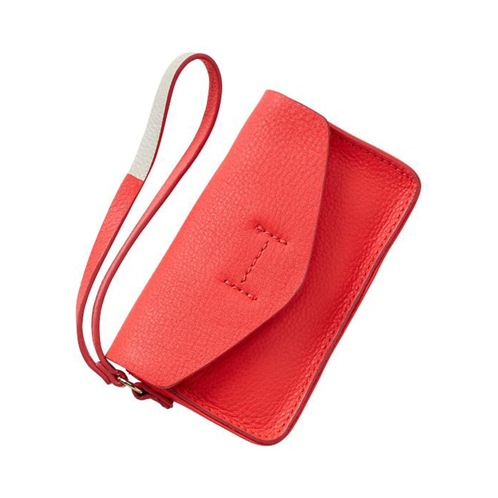 Gap's leather wristlet ($25) is all one needs to keep the nightly essentials on hand —literally.