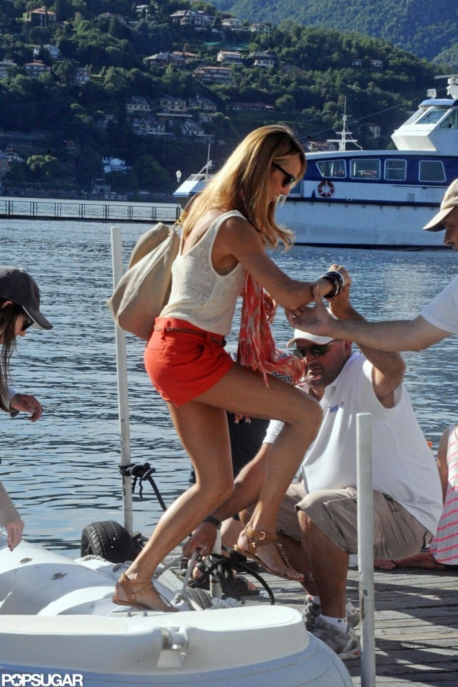Stacy Keibler enjoyed a day in Lake Como in June.