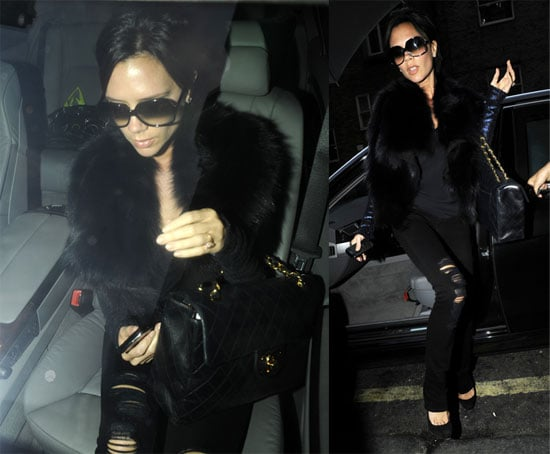 Photos of Victoria Beckham Arriving at Clarridges Hotel in London