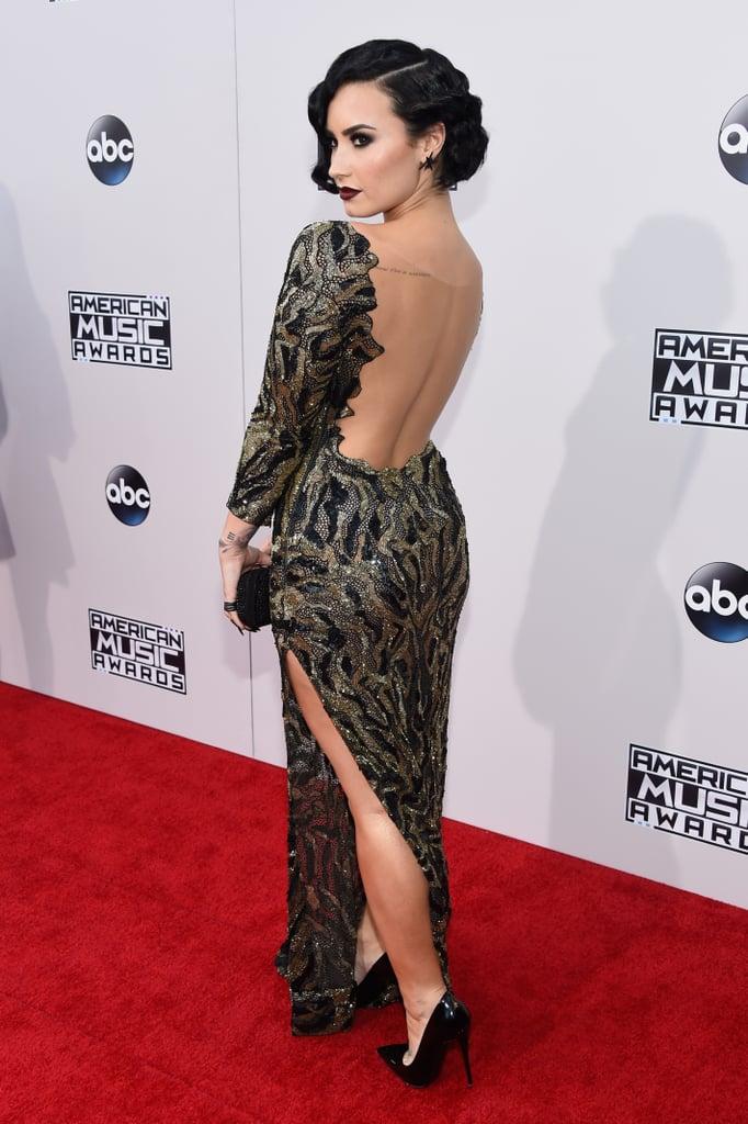 Demi Lovato American Music Awards Red Carpet  Popsugar Latina Photo