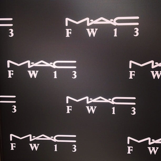 MAC has some of the best backstage access for Fall 2013 Fashion Week.