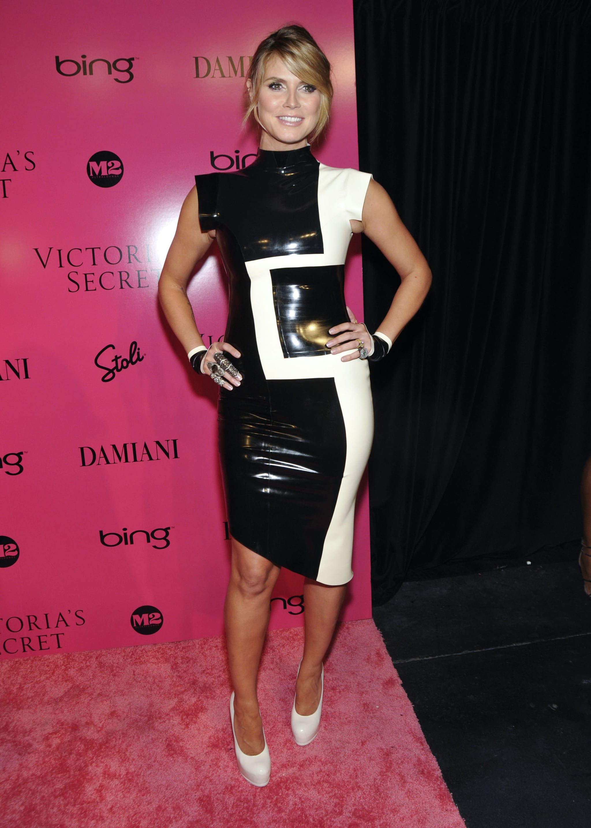 Heidi Klum in a Latex Dress at the 2009 Victoria's Secret Fashion Show