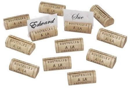 DIY: Wine Cork Placecard Holders