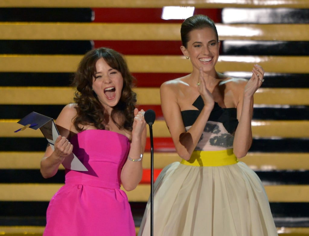 Zooey Deschanel and Allison Williams were excited when Louis C.K. won.