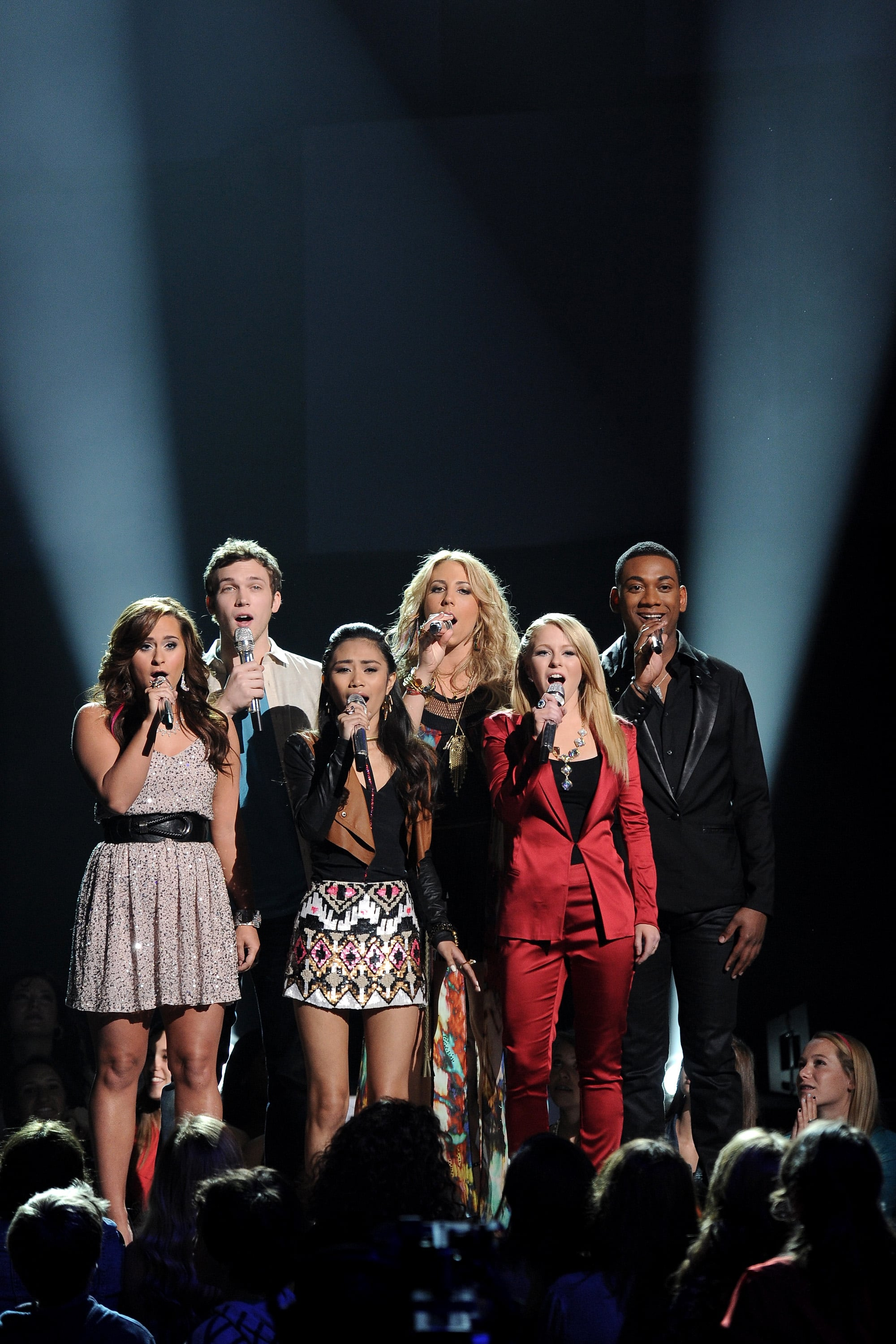 The top six took the stage for a group performance.