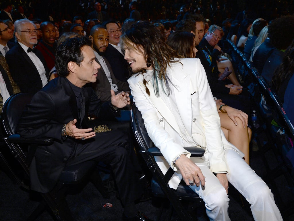 Steven Tyler sat down next to Marc Anthony in the audience.