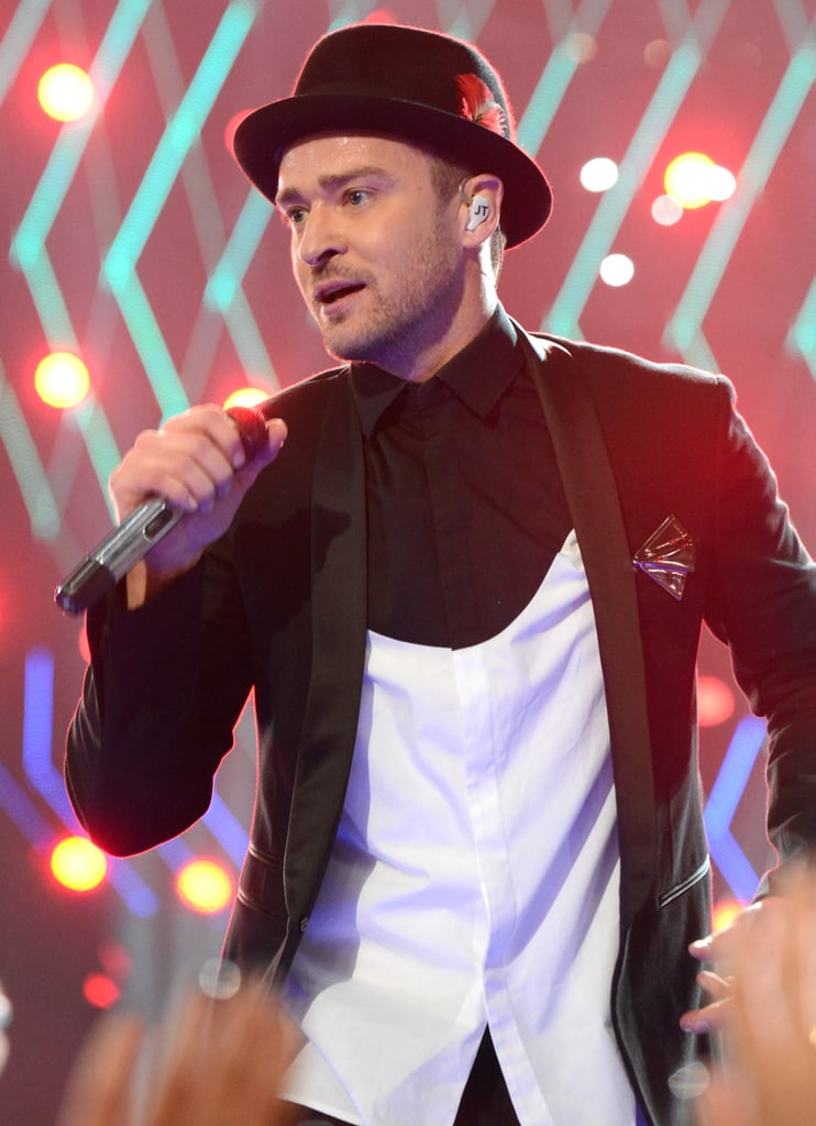 Justin Timberlake hit the stage to perform a medley of his songs.