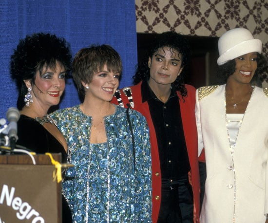 Elizabeth Taylor, Liza Minnelli, Michael Jackson, Whitney Houston —need we say more? The foursome was seen here in 1988.