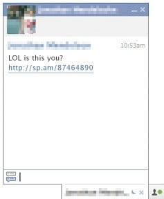 Facebook Spam Messages