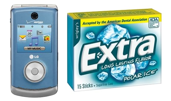 Are These Names For a Cell Phone or a Gum Brand?
