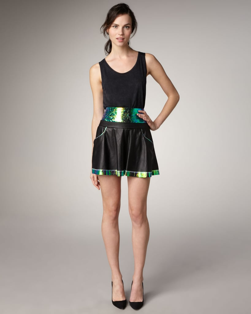 This is the coolest take on flirty-meets-space age, and with a silky black blouse, this Theyskens' Theory Iridescent-Panel Leather Skirt ($243, originally $695) is a dressier night-out option.