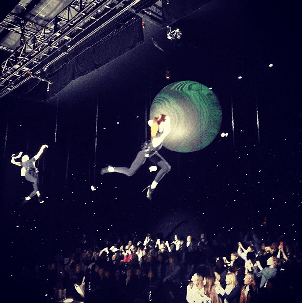 Anya Hindmarch's show was out of this world. Source: Instagram user anyahindmarch
