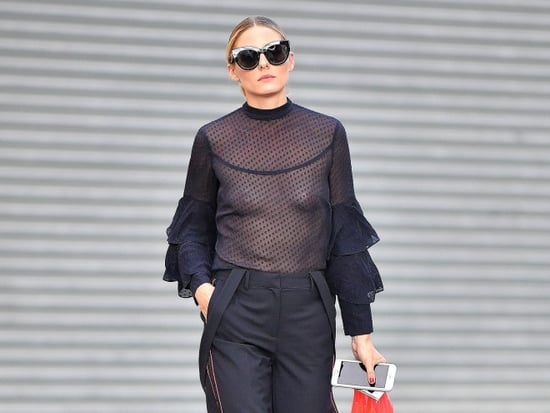 Olivia Palermo Dares to Bare in Completely Sheer Top