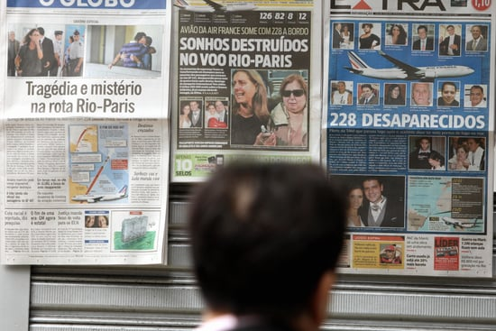 Front Page: Debris Found in Search For Air France Plane
