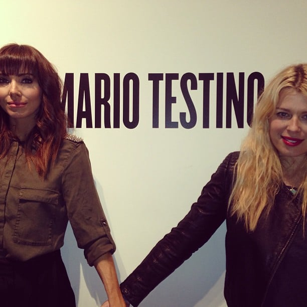 Whitney Cummings hung out with friends while attending the Mario Testino exhibit on Oscar weekend. Source: Instagram user therealwhitney