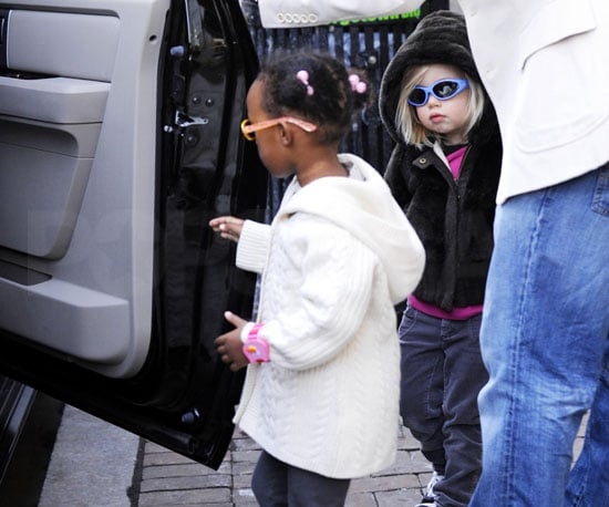 Photo of Brad Pitt Out with Shiloh and Zahara in Washington, DC