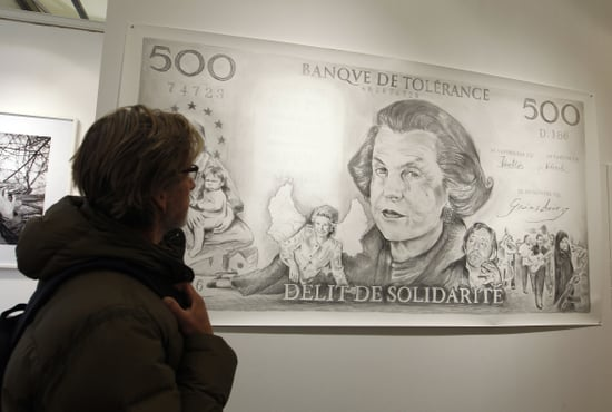 L'Oreal Heiress Liliane Bettencourt's on Bank Note Fiac Art Fair