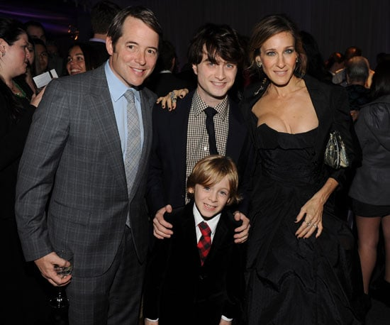 Slide Picture of SJP, Daniel Radcliffe, and Matthew Broderick at the Harry Potter Premiere