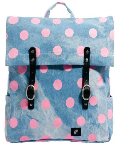 Lazy Oaf Bad Skin Polka Dot Square Backpack