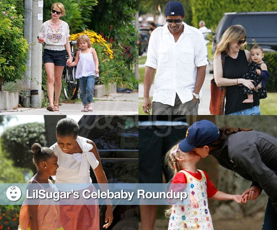 Pictures of Jennifer Garner, Michelle Williams, Ellen Pompeo, and Michelle Obama With Their Daughters