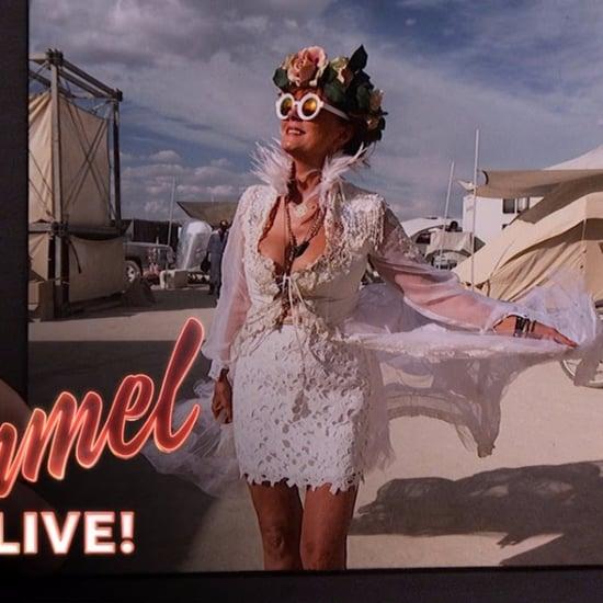 Susan Sarandon Talking About Burning Man Jimmy Kimmel Live