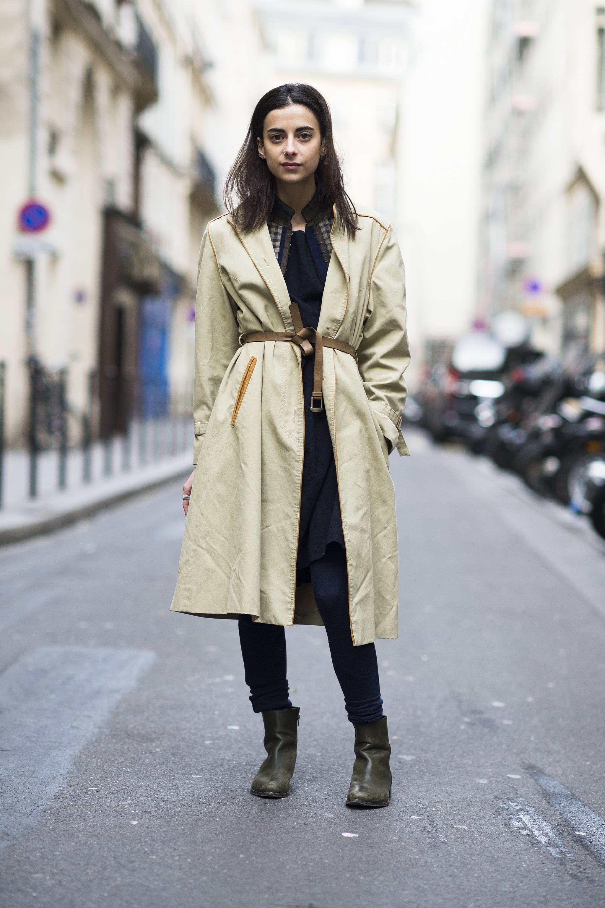 Thrown over your clothes and cinched with a knotted belt at the waist, the coat takes on one of its chicest iterations. Source: Le 21ème   Adam Katz Sinding